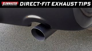 Flowmaster Direct-fit Black Stainless Steel Exhaust Tips for 09-18 Ram Trucks w/ 5.7L Hemi - 15356B