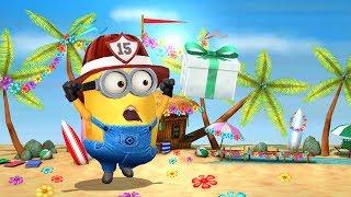 Despicable Me 2 Minion Rush: Fireman Minion vs Starfish Minion in Special Summer Beach Party Event