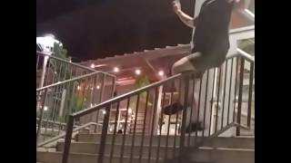 Another sick rail slide by Darby Ferrari.