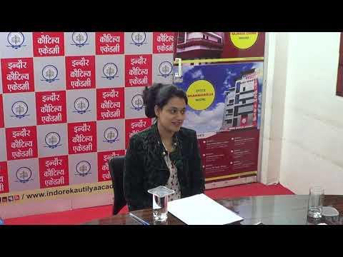"MPPSC Selected 2018 | Scorer 921 ""'Shivangee Mahajan''' MOCK Interview, Indore Kautilya Academy."