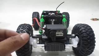 Modifikasi Rc Rock Crawler QD ke PROPO | RC MODIFY CRAWLER 4WD | Flysky GT2B + ESC + metal servo