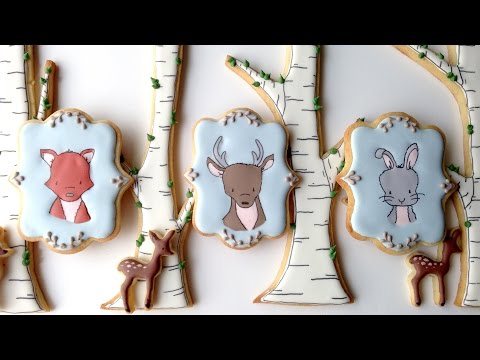 Woodland Cookies Featuring Sweet Melody Designs