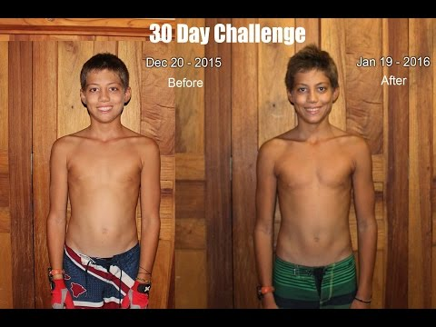 Push Up Pull Up 30 Day Challenge RESULTS! - 14 year old
