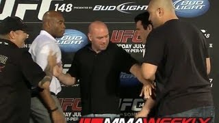 Anderson Silva and Chael Sonnen Nearly Come to Blows at UFC 148 Presser (FaceOff)
