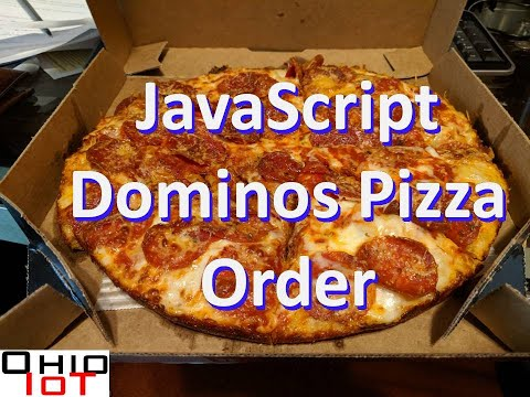 Order Dominos Pizza With Javascript.