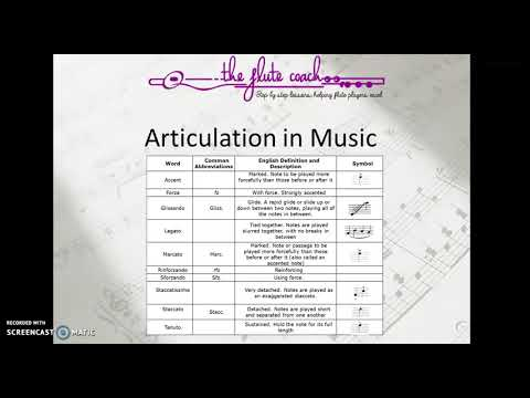 Some examples of Articulation in Music