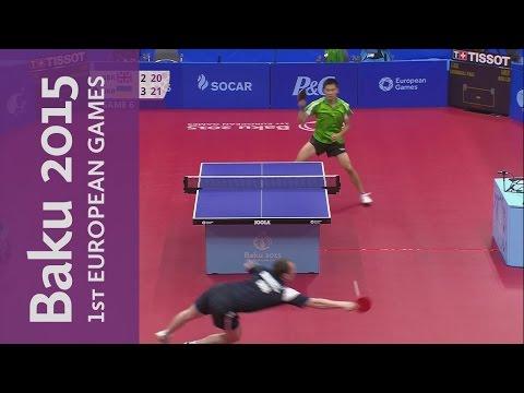 An Outstanding Diving Shot On Match Point In The Bronze Medal Match | Table Tennis | Baku 2015