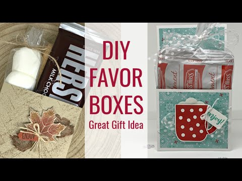 🔴How to Make Favor Boxes that are Great Gift Ideas