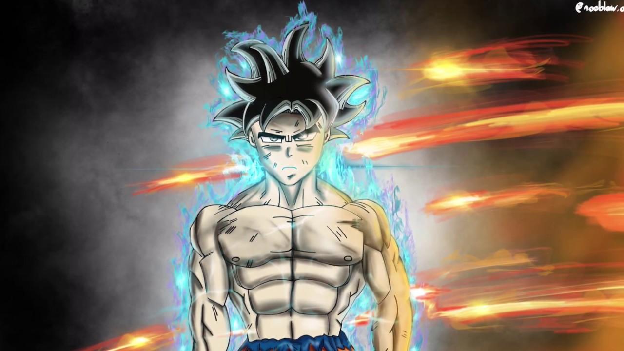 Speed drawing goku ultra instinct youtube - Goku ultra instinct sketch ...