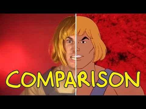 He-Man Live Action Intro - Homemade Side by Side Comparison thumbnail