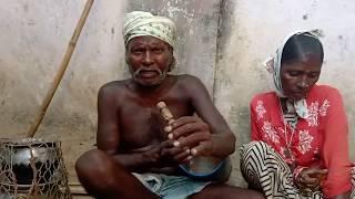GHUDKA BAJA WITH DESI FOLK MUSIC 🎵 PERFORMED BY ADIVASI COUPLE 👫.