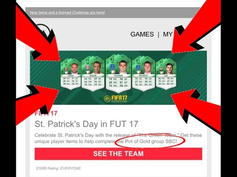 "FIFA 17 - *LEAKED* ST PATRICKS DAY SBC! - *NEW* ""Pot of Gold"" SBC! - *NEW* Green Cards in FIFA 17!"