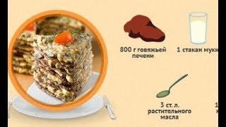 Печёночный торт (рецепт с фото)