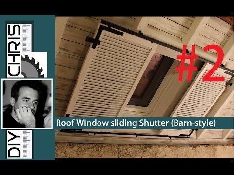 "Barn- Style Ceiling (Part 2):""Sliding Window Shutters"" Dachfenster verdunkeln"
