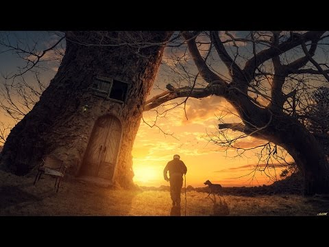 Photoshop CC Manipulation Tutorial Big Tree  ( 포토샵 CC 합성 강좌 큰 나무 )