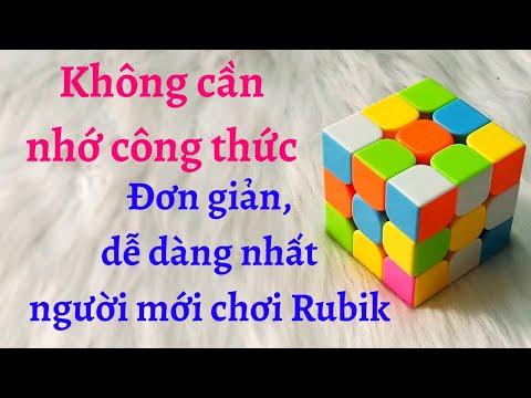 Hướng Dẫn Cách Xoay Giải Rubik 3x3 Đơn Giản Nhất Cho Người Mới Chơi Dễ Dàng Không Cần Nhớ Công Thức