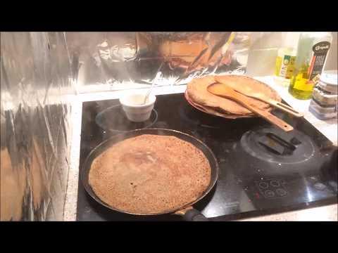 Galette a la maison : Homemade buckwheat crepe