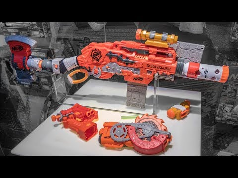 2018 Nerf Zombie Strike Scravenger | Tacti-cool Attachments and Ninja Star Blades!