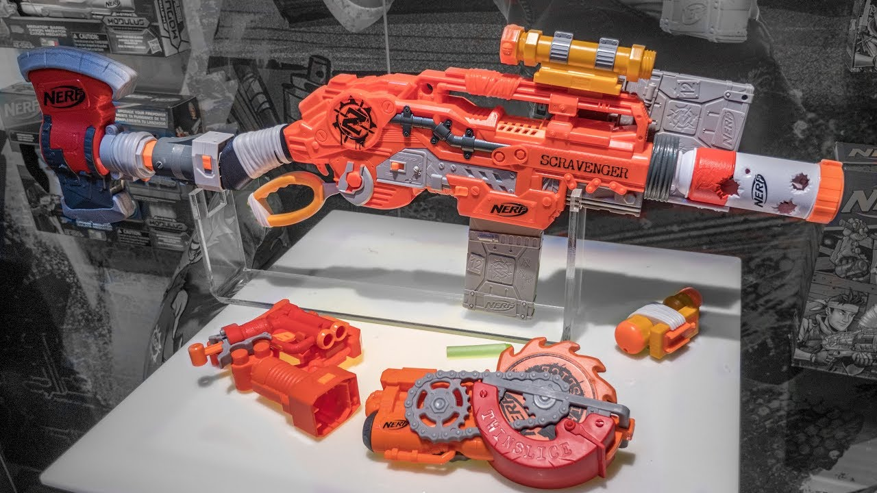 2018 nerf zombie strike scravenger tacti cool attachments and