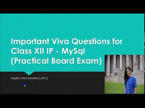 Important VIVA Questions for Class XII IP Board Practical - 2 (MySQL)