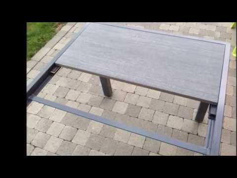 R alisation d 39 une table de jardin contemporaine youtube - Faire une table de jardin ...