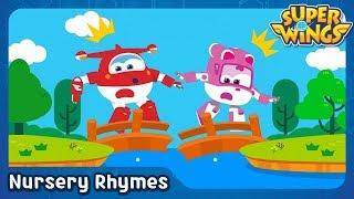 London Bridge is Falling Down | English Song | Nursery Rhymes | SuperWings Songs for Children