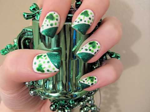 St. Patrick's Day Nails - YouTube