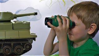 Игрушки для мальчиков Умный танк! Видео для детей