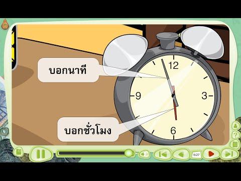นาฬิกาและการบอกเวลา - สื่อการเรียนการสอน คณิตศาสตร์ ป.3