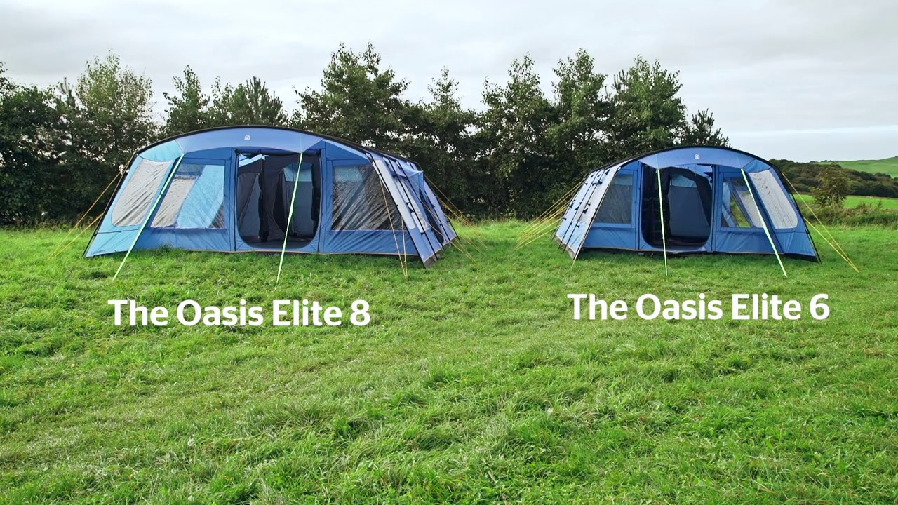 Hi Gear Oasis Elite 6 u0026 8 Family Tents & Hi Gear Oasis Elite 6 u0026 8 Family Tents - YouTube