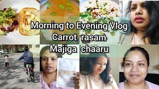 #Telugu vlogs | Morning to Evening Vlog | Tomato rasam recipe | Holiday Vlog