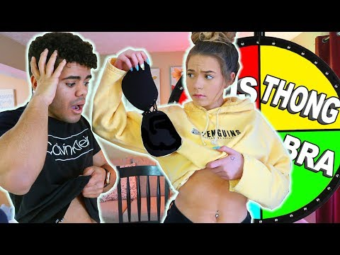 REMOVE CLOTHING MYSTERY WHEEL Challenge W/ Girlfriend! (Remove Everything)