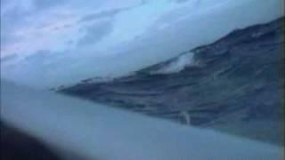 Atlantic Ocean rowing in a storm