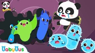 Big Germs are Making a Mess in Baby Panda's Body | Good Habits Song | Kids Safety Tips | BabyBus thumbnail
