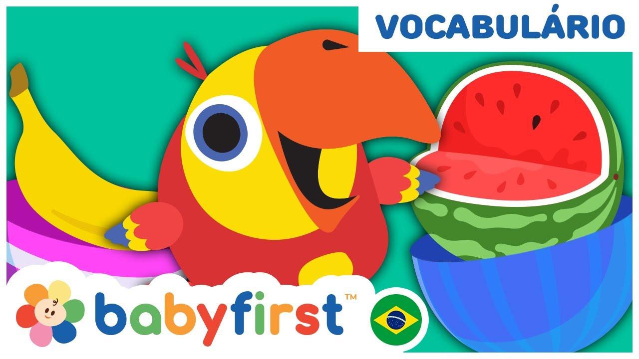 Desenhos educativos em português | APRENDA O NOME DAS FRUTAS COM OVO SURPRESA | Baby First Brasil