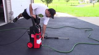 Electric Power Washer Leaking Oil :   Fixed