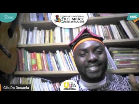 Recital de Gils da Douanla (Camerún), en el Festival del Norte, Poesía en Tránsito