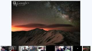 Starry Night Landscape Photography Panel