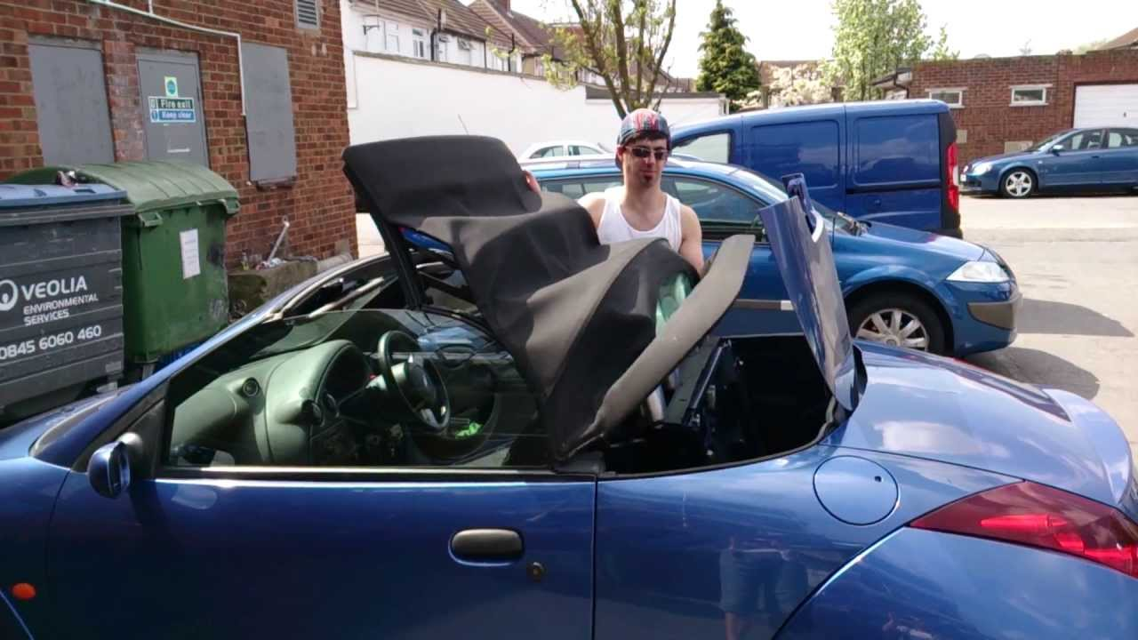 ford streetka convertible soft top roof closing youtube. Black Bedroom Furniture Sets. Home Design Ideas