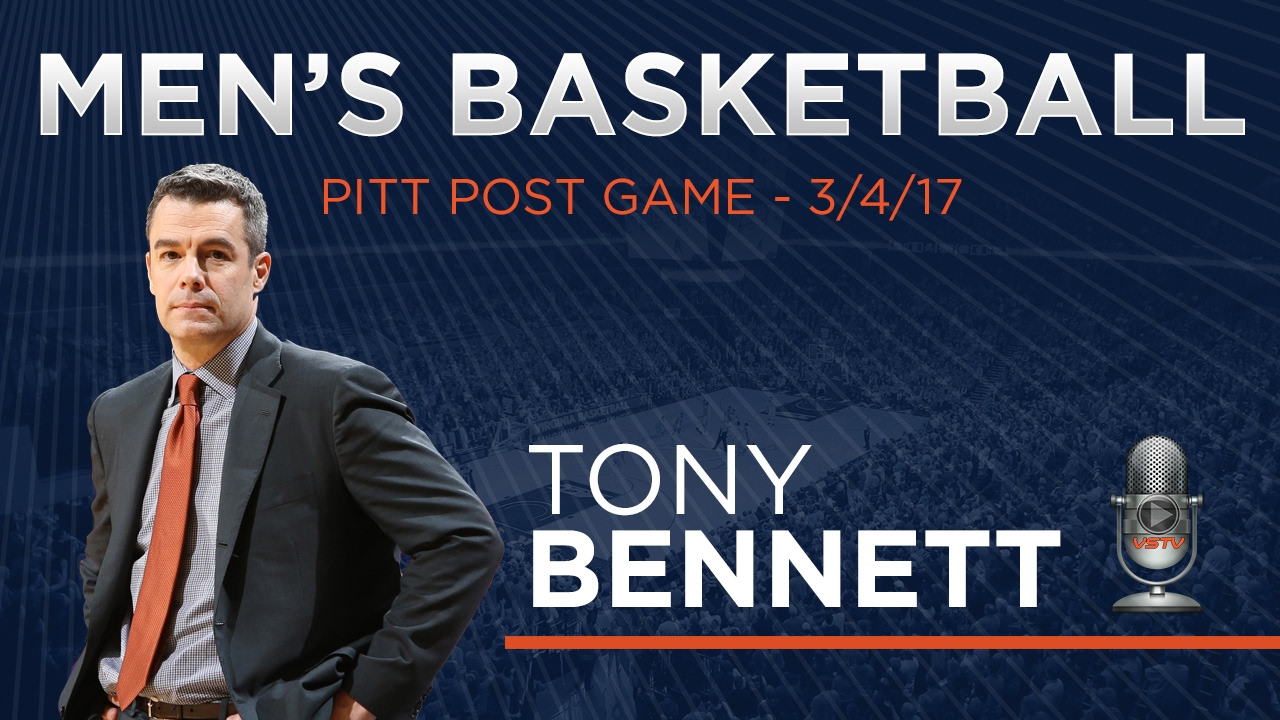 MEN'S BASKETBALL: PITT Post Game - Tony Bennett - YouTube