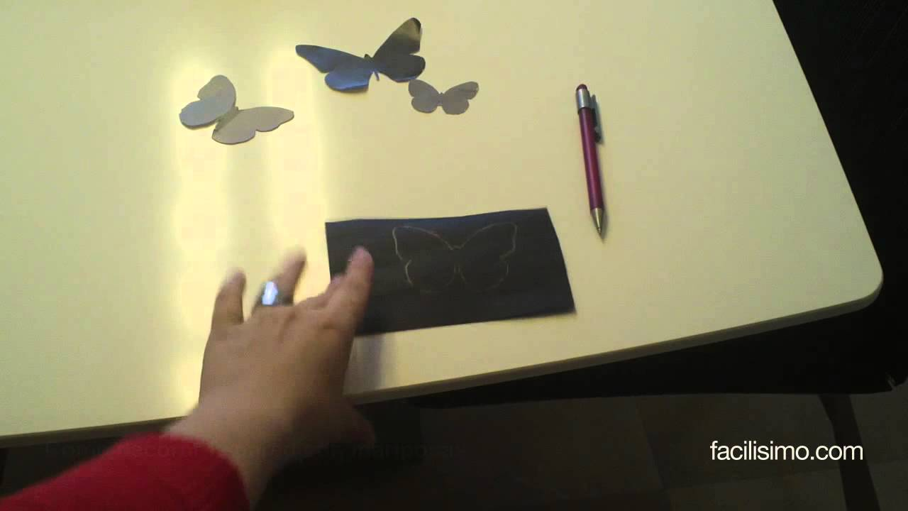 C mo decorar la pared con mariposas youtube for Como decorar una pared con pintura