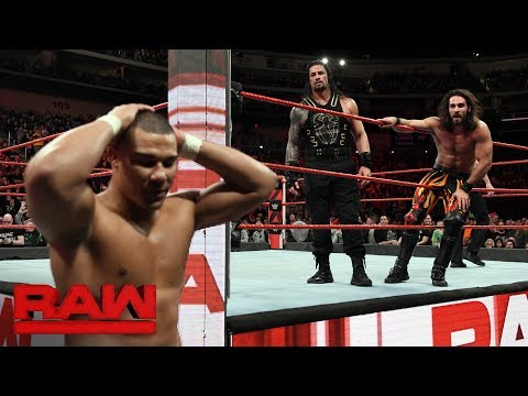 Cesaro & Sheamus vs Roman Reigns & Seth Rollins  Raw Tag Team Title Match: Raw, Feb 5, 2018