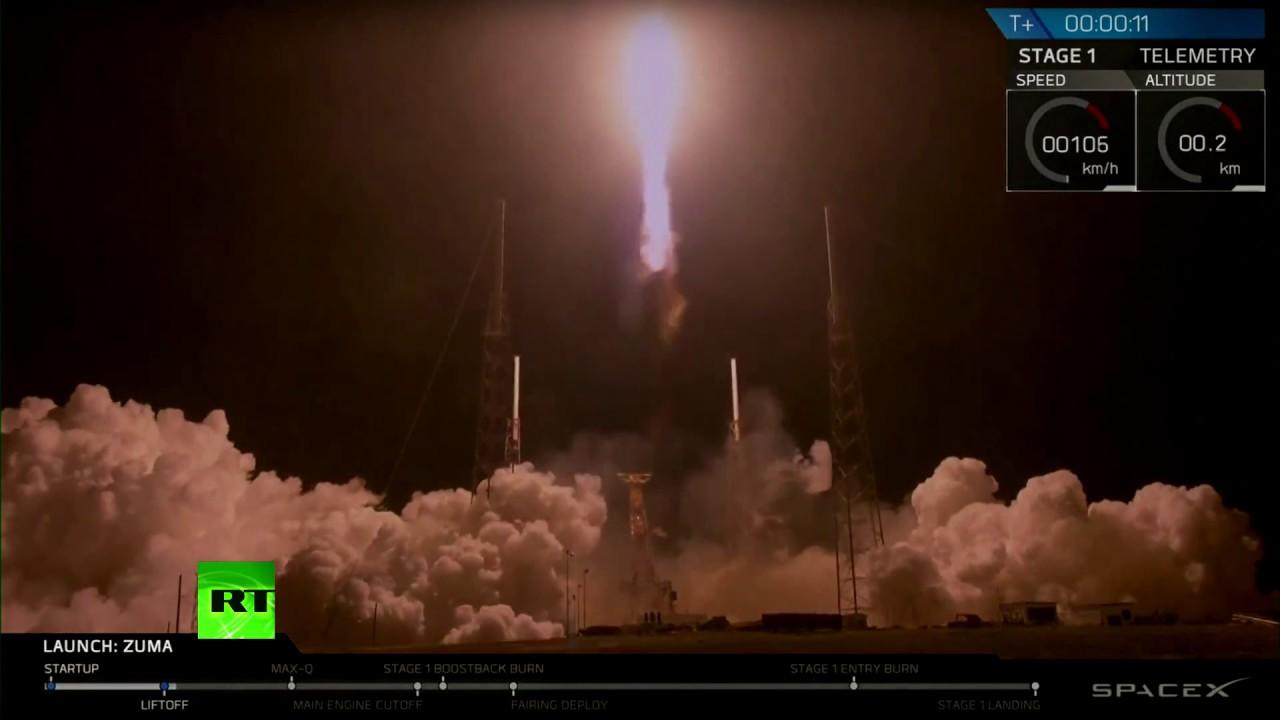 SpaceX запустила ракету Falcon 9 с секретным спутником для правительства США