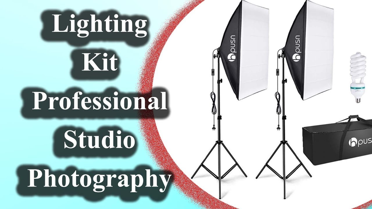 Hpusn Softbox Lighting Kit Professional Studio Photography