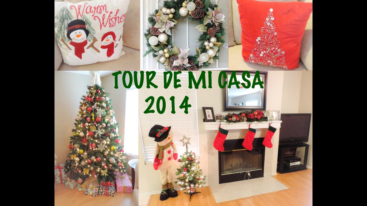 Tour de mi casa y ideas de decoracion para navidad youtube for Adornos de casa