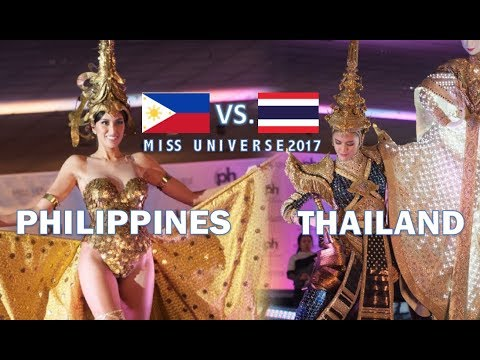 Miss Universe 2017: Miss Thailand VS. Miss Philippines - NATIONAL COSTUMES COMPETITION (HD)