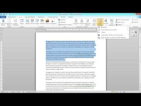 Aula 7 de 16 - Word 2010 - Colunas, letra capitular, auto texto, localizar e substituir