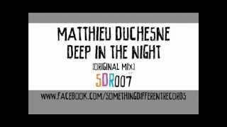 [SDR007] Matthieu Duchesne - Deep In The Night (Original Mix)