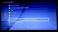 PS4 online Speicher verwalten und löschen, deutsch