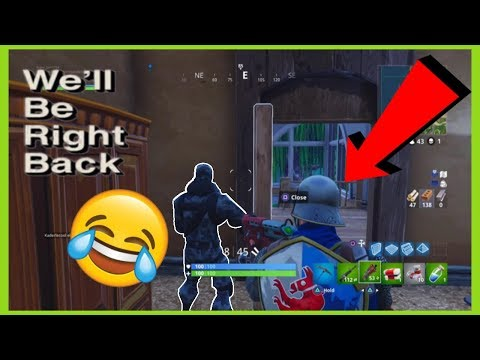 Fortnite We'll Be Right Back Meme Compilation | Fortnite Funny Moments